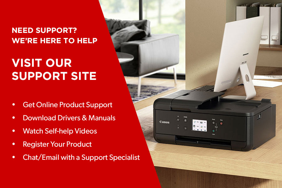 Visit Canon's Support Site